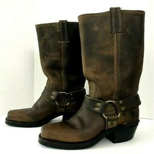 Frye Harness Dark Brown Motorcycle Boots 12R
